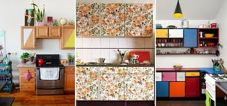 removable wallpaper for kitchen cabinets 10 easy ways to give your rental kitchen a makeover 6sqft