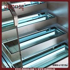 led glass stairs stairs with glass risers and led lights buy