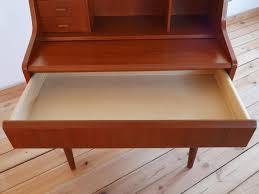 Folding Secretary Desk by Danish Teak Secretary Desk 1960s For Sale At Pamono