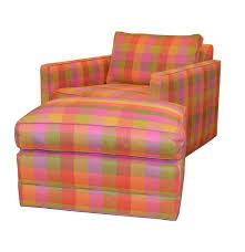 forecast furniture plaid armchair with ottoman ebth