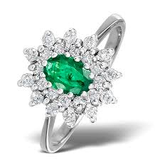 white emerald rings images Emerald 6 x 4mm and diamond 9k white gold ring item a4439 jpg