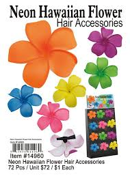 wholesale hair accessories neon hawaiian flower hair accessories wholesale 14960 69 00