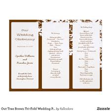 free tri fold wedding program templates trifold wedding program templates free europe tripsleep co