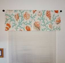 Coral Valance Curtains Curtain Valance Topper Window Treatment 52x15 Ocean By Homeliving