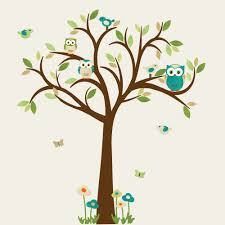 owl tree wall decal owl tree wall sticker owl wall decal