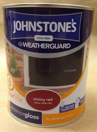 johnstones weatherguard exterior gloss paint for wood u0026 metal