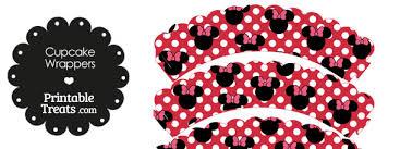 free printable minnie mouse cupcake wrappers u2014 printable treats
