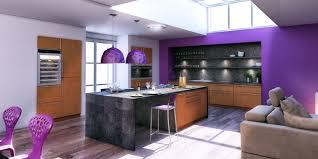 cuisine couleur violet cuisine design avec îlot central couleur violet cuisines charles