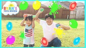 color water balloons fight water toys family outdoors