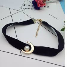 anime pearl necklace images Charm cartoon anime jewelry moon pendants necklace punk imitate jpg
