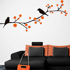 Tree Branch Decor Aliexpress Com Buy Branch Birds Wall Sticker Tree Wall Decal