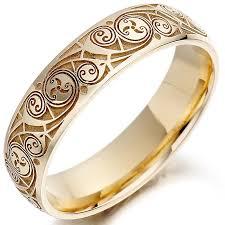 mens celtic wedding rings celtic wedding ring mens gold celtic spiral triskel