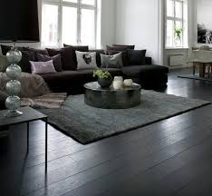 Living Room Wood Floor Ideas Black Wooden Flooring Brings The Contemporary Stylish Look
