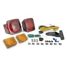 curt 53540 trailer light kit metallic base with 20 u0027 wiring harness
