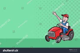 Mowing Business Cards Business Card Ideal Lawn Mowing Services Stock Illustration