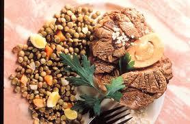 cuisiner jarret de boeuf jarret aux lentilles recettes de cuisine la viande fr