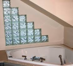 glass block designs for bathrooms to glass blocks of an architect