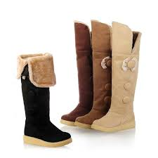 womens winter boots for sale bow suede free shipping black knee length winter boots