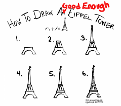 jeannelking com how to draw a good enough eiffel tower in six steps