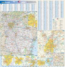 Maps Of Georgia Large Roads And Highways Map Of Georgia State With All Cities