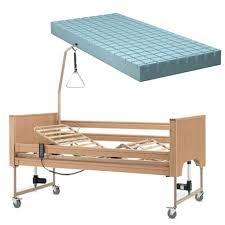 materasso elettrico letto degenza elettrico in legno e materasso antidecubito