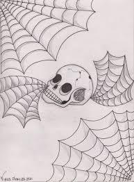 skull spiderweb by xxthevirusxx on deviantart