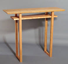 narrow side table narrow side table handmade custom wood furniture minimalist