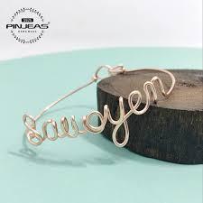 Name Bracelets Gold Pinjeas Custom Name Bracelet Gold Sterling Copper Handmade Diy