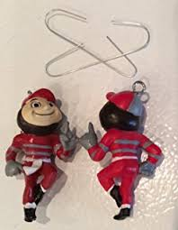 ncaa ohio state buckeyes glass ornament sports