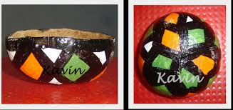 kk arts and crafts art from waste coconut shell painting