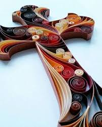 quilled paper art cross handmade artwork paper by gericards