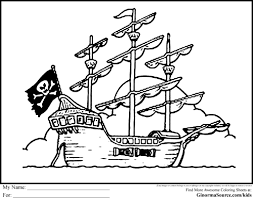 pirate boat coloring page kids drawing and coloring pages marisa