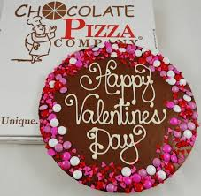 valentines chocolate valentines day chocolate pizza choice of message candy border