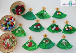 Decoration From Christmas by Paper Plate Christmas Tree Counting Decoration Learning 4 Kids