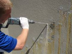how to repair basement wall cracks hairline and actively leaking water concrete repair kit