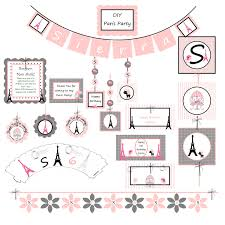 paris birthday party decorations use as baby shower also diy