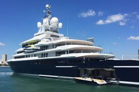 yacht watch the 545m luna is docked in miami curbed miami