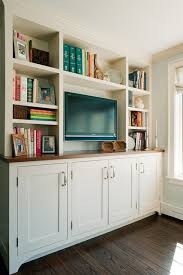 Kitchen Cabinet Entertainment Center Built In With Bottom Shaker Style Cabinets Wood Top Open