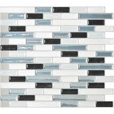 smart tiles mosaik high gloss mosaic in gray u0026 blue set of 6
