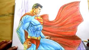 draw superman step step