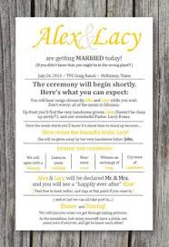 layout of wedding ceremony program 10 creative wedding program ideas fantabulously frugal in nyc