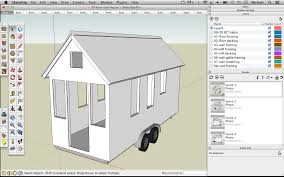 skechup 20 foot tiny house shell drawing