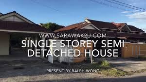 single storey semi detached house for sale permy miri youtube
