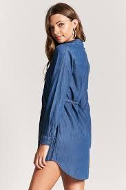 denim button front shirt dress forever21