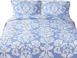 Duvet Covers And Quilts Breezy Floral Patchwork Quilt Set White And Periwinkle