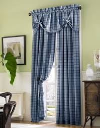 country plaid cotton tie up window valance curtainworks com