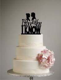 star wars inspired wedding cake topper i love you i know