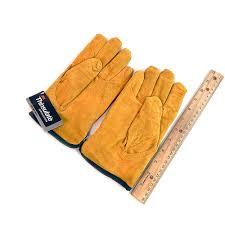 Split Cowhide West Chester 2 Pair Split Cowhide Leather Gloves Medium 3m Golden