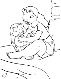 pudgy bunny u0027s lilo u0026 stitch coloring pages