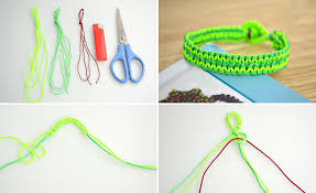 make bracelet from string images How to make neon string bracelet diy crafts handimania jpg
